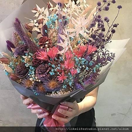 台北乾燥花店-喜歡生活乾燥花店-巨型花束