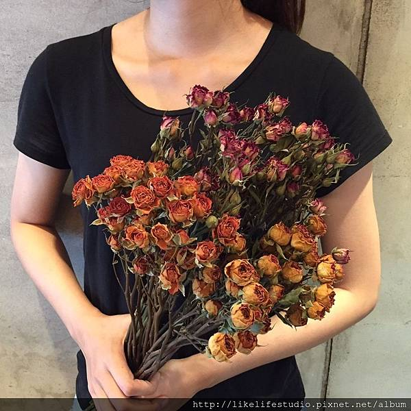 台北乾燥花店-喜歡生活乾燥花店,迷你玫瑰乾燥花