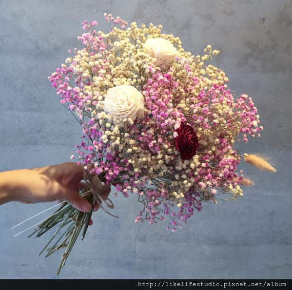 台北乾燥花店-喜歡生活乾燥花店,新娘捧花