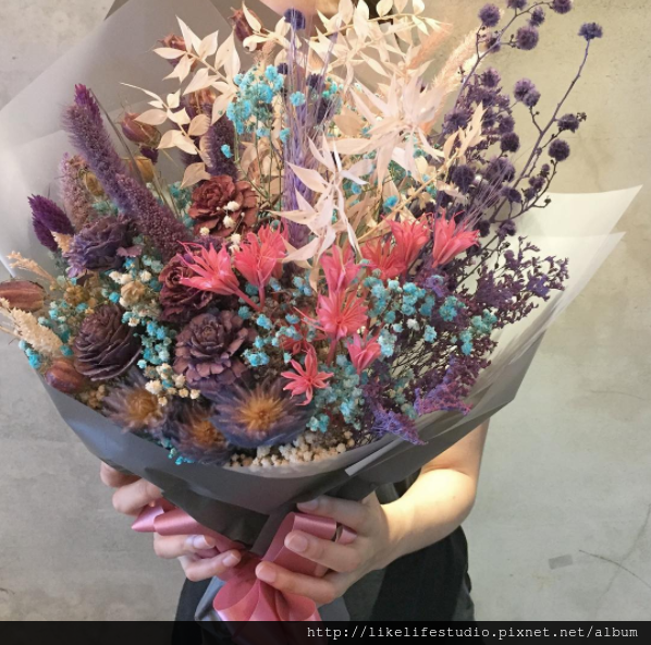 台北乾燥花店-喜歡生活乾燥花店-巨型乾燥花束