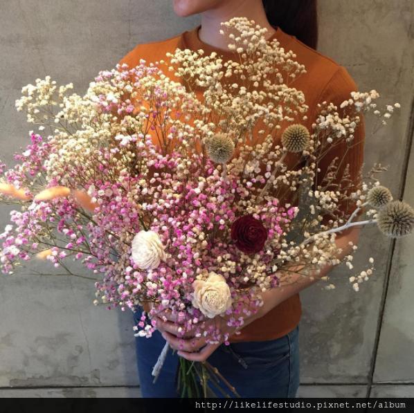 台北乾燥花推薦-喜歡生活乾燥花店,滿天星購買