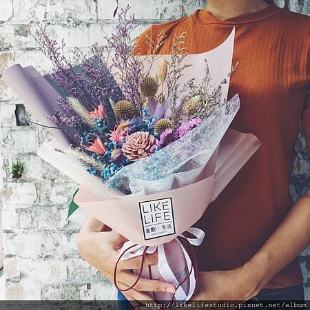 情侶一週年禮物推薦-大型乾燥花束