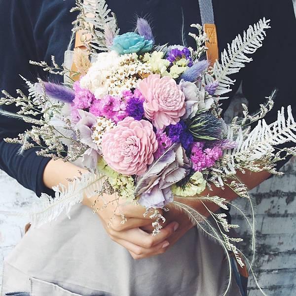 蘆洲乾燥花店,乾燥花新娘捧花