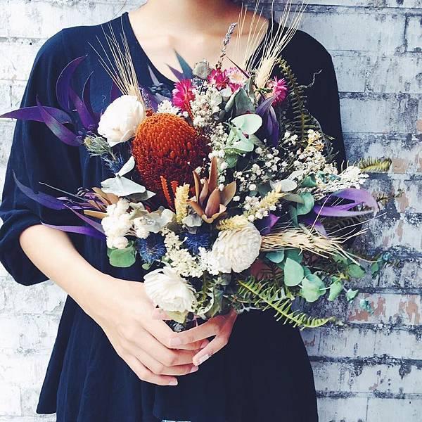 客製化新娘捧花推薦,喜歡生活新娘捧花推薦,新娘捧花製作