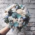 捧花,捧花台北推薦圖片藍色捧花,捧花藍色,手拿照