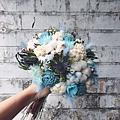 捧花台北,捧花台北推薦圖片藍色捧花,捧花藍色,手拿照