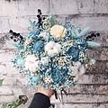 捧花台北,捧花台北推薦圖片藍色捧花,捧花藍色,分享