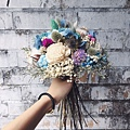 歐式捧花台北,歐式捧花台北推薦圖片藍色捧花,歐式捧花,分享照2