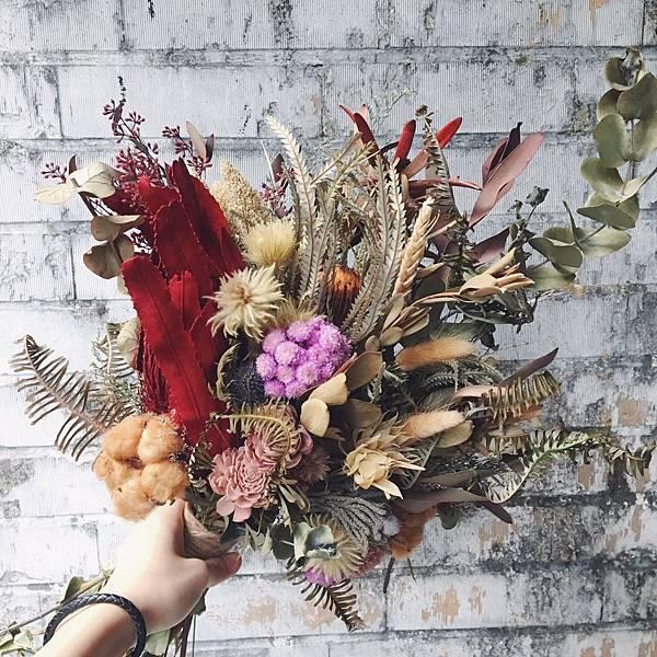韓式捧花台北,韓式捧花台北推薦圖片紅色捧花,歐式捧花,分享照2