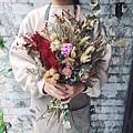 韓式捧花台北,韓式捧花台北推薦圖片紅色捧花,歐式捧花,捧花分享照