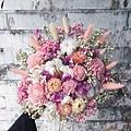 歐式捧花,台北新娘捧花台北推薦圖片粉色捧花,歐式手工捧花,淺色系分享