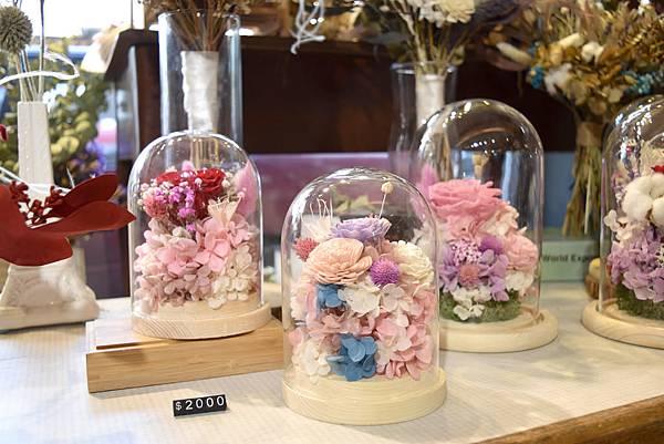 永生花玻璃盅罩,永生花盅