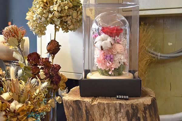 永生花玻璃盅罩,永生花鐘罩