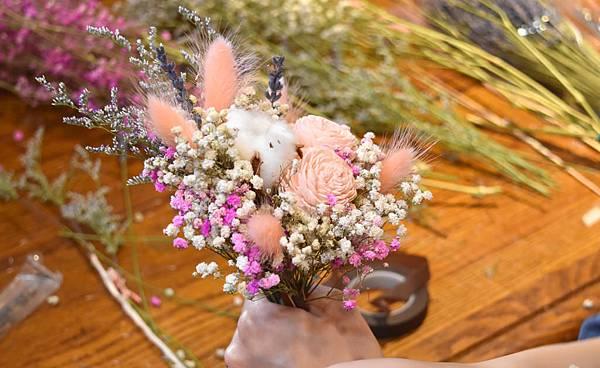 乾燥花束,台北乾燥花束紅粉色