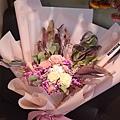 大型乾燥花束,台北乾燥花束紅粉色