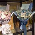 藍色永生花花束,台北永生花花束推薦