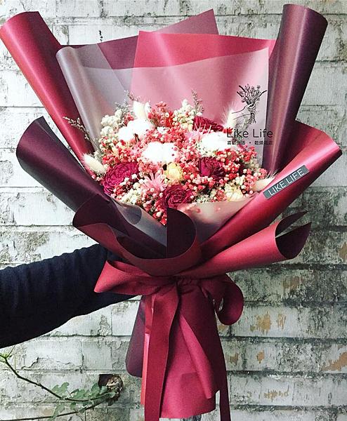巨大花束,巨大乾燥花束台北巨型乾燥花束,紅色巨大花束