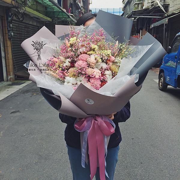 巨大花束,巨大乾燥花束台北巨型乾燥花束