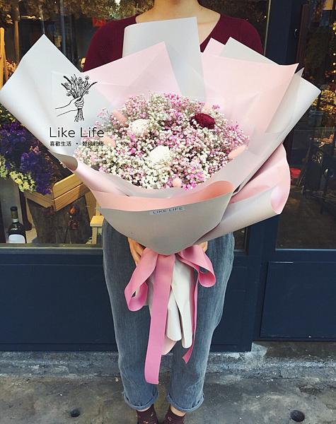 巨大花束,巨大乾燥花束台北巨型乾燥花束,少女最愛款乾燥花束