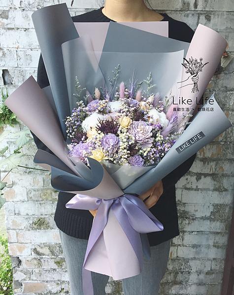 巨大花束,紫色系巨大乾燥花束台北巨型乾燥花束,少女最愛款乾燥花