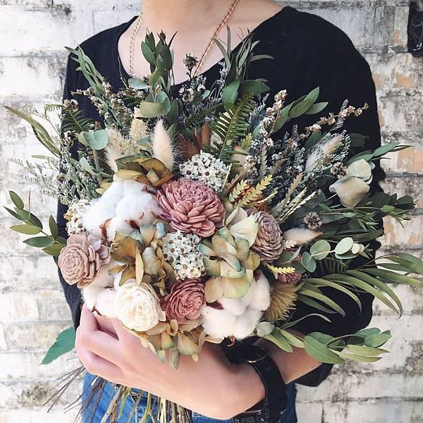 新娘捧花台北,乾燥捧花,新娘乾燥捧花