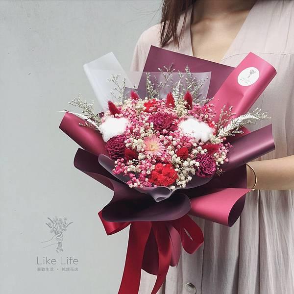 乾燥花台北,台北乾燥花店-紅色乾燥花束