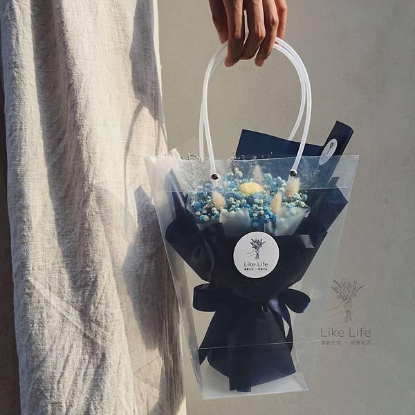 乾燥花台北推薦台北乾燥花店-藍色乾燥花束