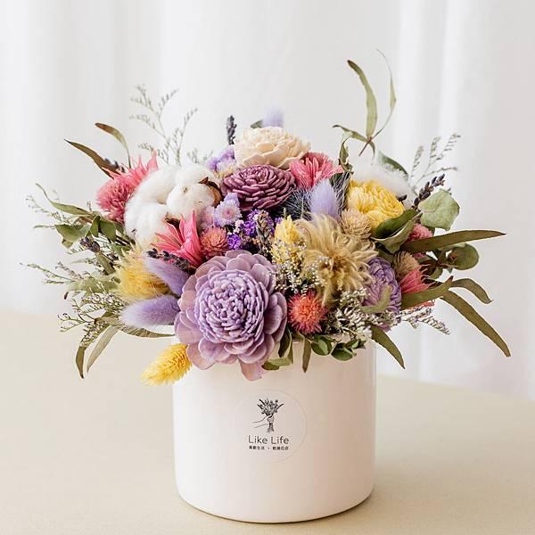 咖啡廳開幕盆栽推薦,乾燥花盆(大紫)-台北喜歡生活乾燥花店