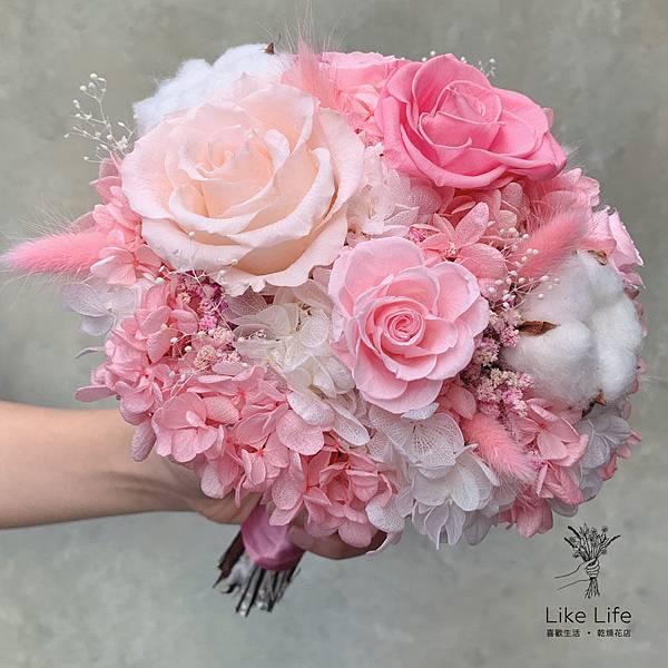 永生花新娘捧花推薦台北,永生花捧花哪裡買,超仙氣的永生花捧花