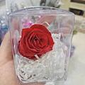 乾燥花材料推薦,喜歡生活乾燥花店永生紅玫瑰花.JPG