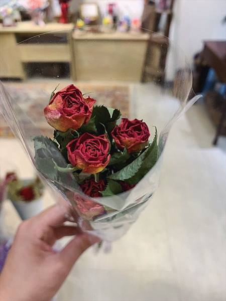 母親節乾燥花束推薦,乾燥玫瑰花特寫.JPG