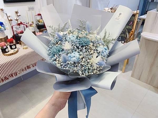 母親節乾燥花束推薦,質感滿天星乾燥花束,韓式乾燥花束.JPG