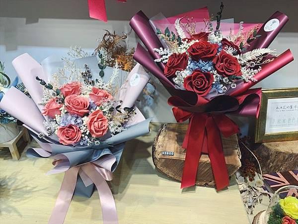 母親節花束推薦永生玫瑰花束,超有質感的永生花束.JPG