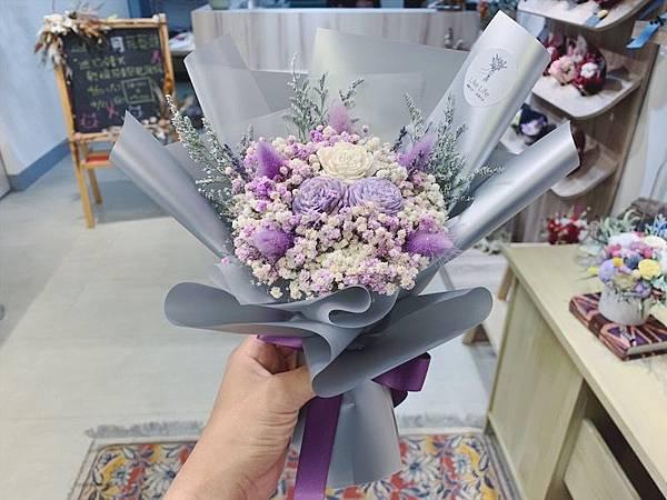 母親節花束推薦,紫色乾燥花束.JPG
