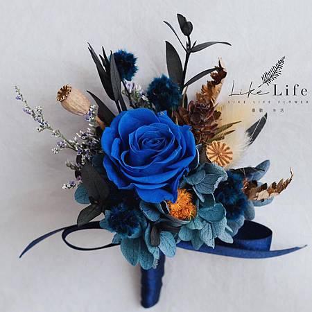 伴郎胸花藍色設計,伴郎胸花.jpg