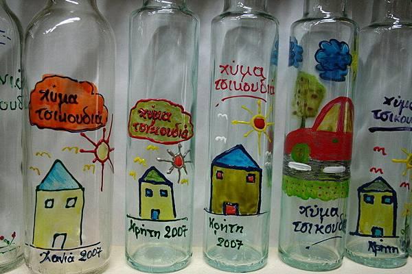 希臘阿姨手繪的瓶子