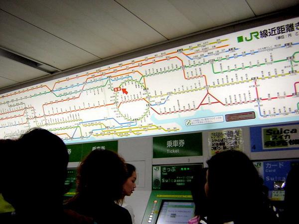 日本電車分佈線很多...這只是其中一部份