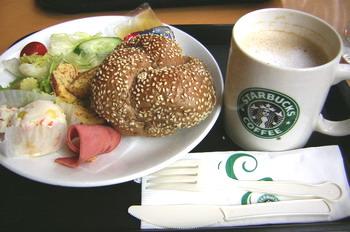 我ㄉ早餐早上先到星巴克仰德門市