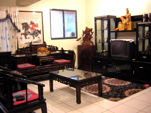 客廳-很復古的傢俱吧!