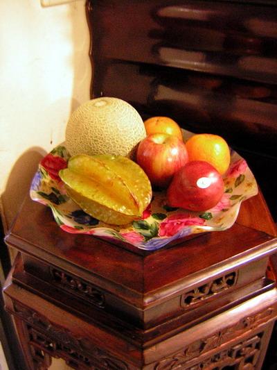 隨手可以拿來吃洗好的水果..西洋梨馬上被我吃掉了