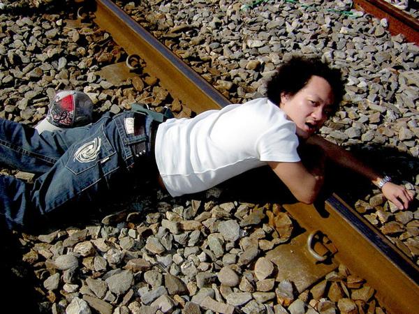 這是真ㄉ有火車ㄉ鐵軌啦~