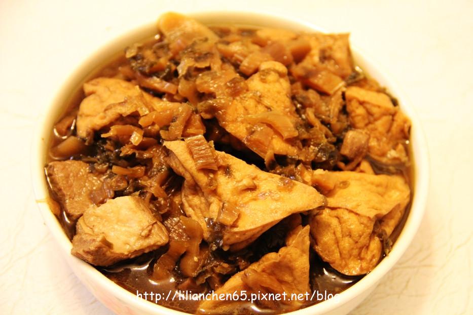 莉莉安的私房菜.....福菜油豆腐