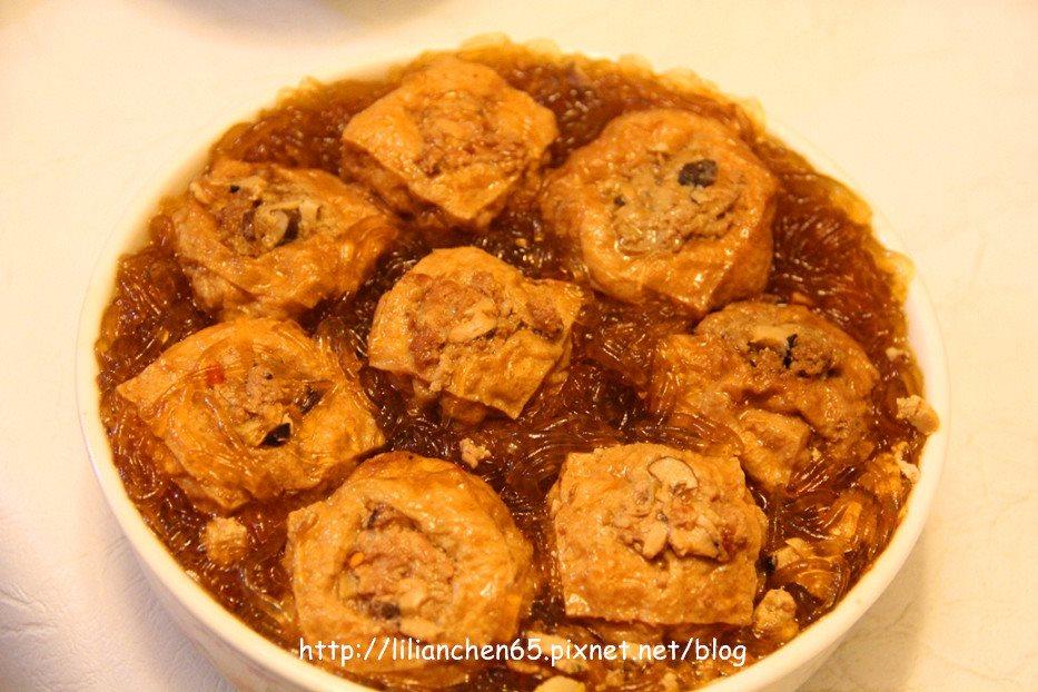 莉莉安的私房菜.....油豆腐鑲肉粉絲