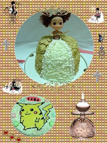 娃娃蛋糕vs皮卡丘蛋糕