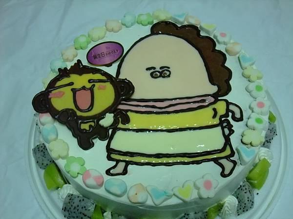 花媽vs小猴子蛋糕