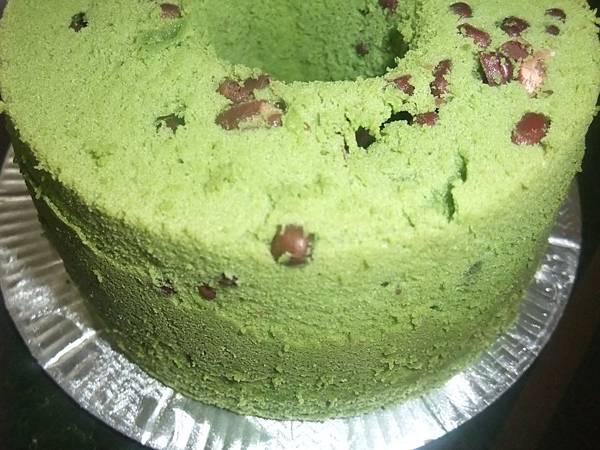 抹茶紅豆戚風蛋糕