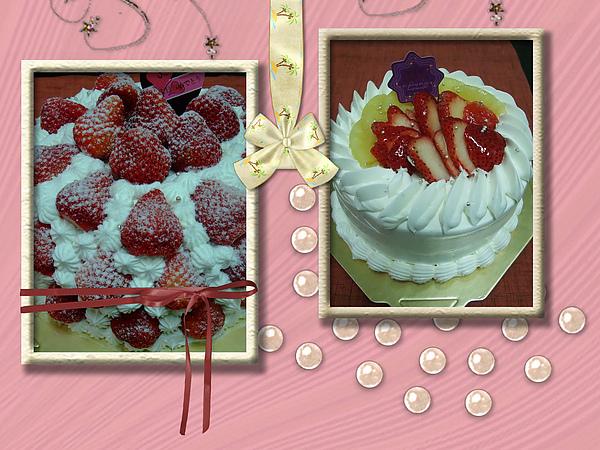 草莓蛋糕vs水果蛋糕