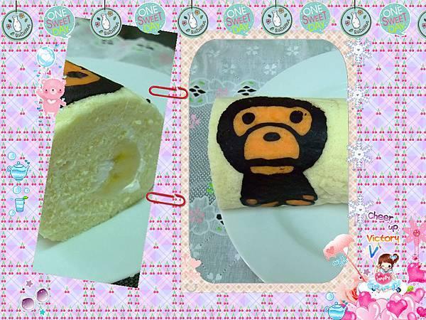 彩繪蛋糕捲~ape