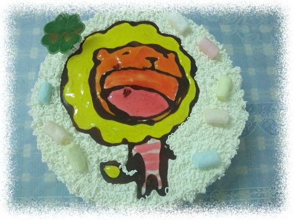 奶油獅蛋糕