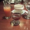 甜點=>果汁+茶凍